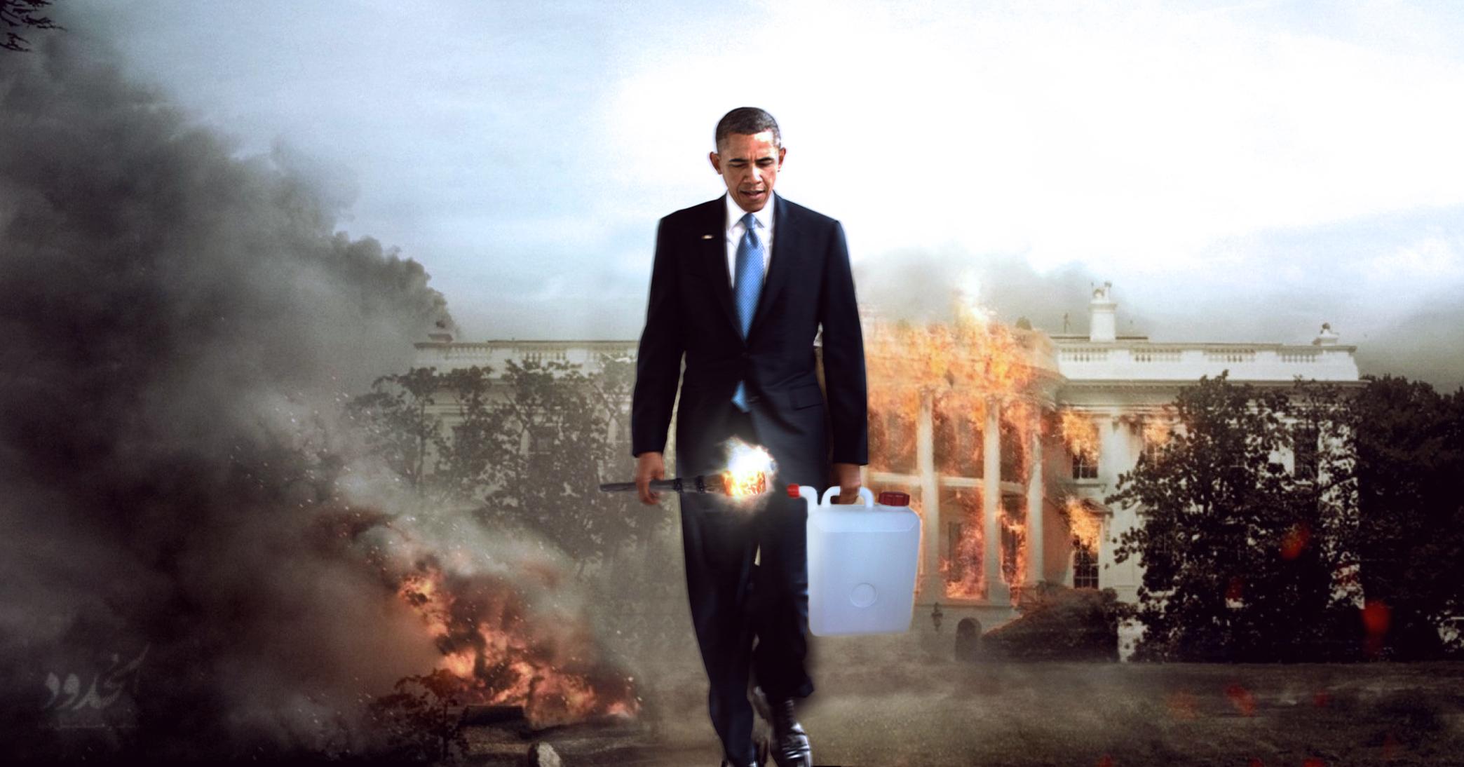 صورة أوباما يعتمد سياسة الأرض المحروقة قُبَيل خروجه من البيت الأبيض