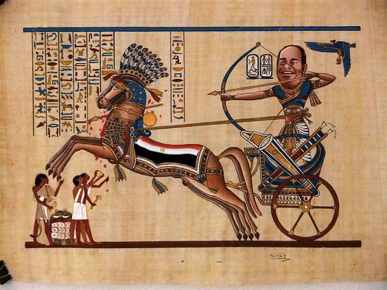 """صورة اكتشاف تميمة للعنة فرعونية منقوش عليها """"السيسي قادم"""" بالهيروغليفية"""